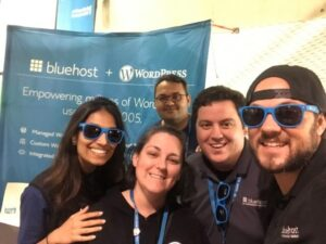 Encore-Admin-Consulting-Korryn-Haines-with-Bluehost-Team-WordCamp-Brisbane-2019